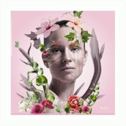La femme bouquet de fleurs